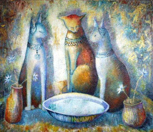 Blue Cats and Milk by Sibyl MacKenzie