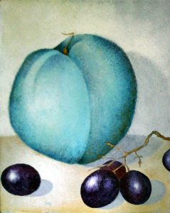 Blue Peach, painting by Sibyl MacKenzie