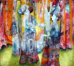 Reunion, painting by Sibyl MacKenzie