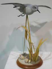 Carved bird by Joanne Snead