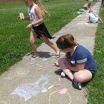 sidewalk chalk fun!