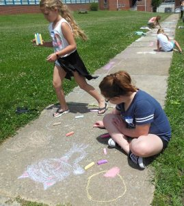 sidewalk chalk fun!