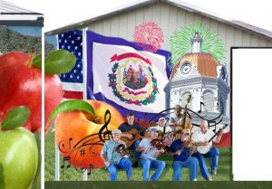 Portion of planned mural in Romney