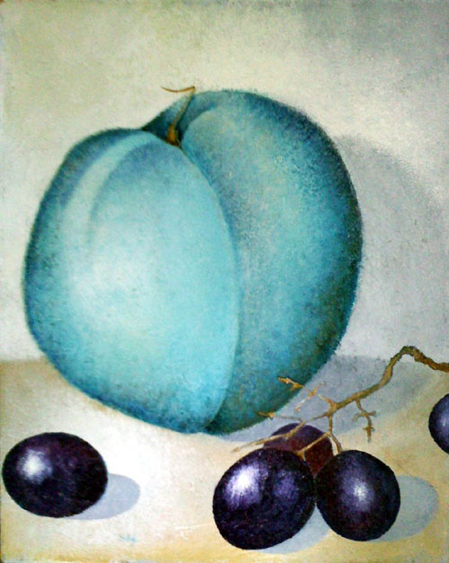 Blue Peach, painting by Sibyl MacKenzie
