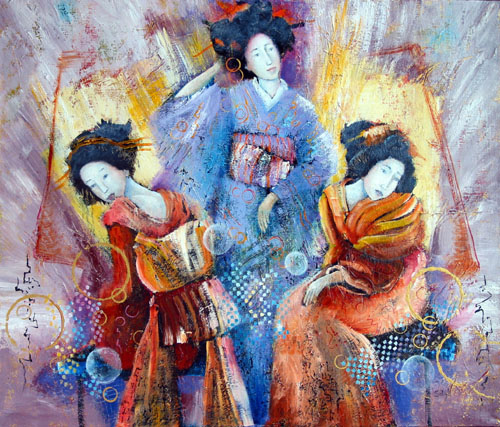 Geisha Afternoon, painting by Sibyl MacKenzie