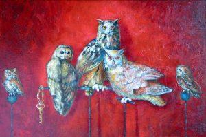 Owls Secret, painting by Sibyl MacKenzie