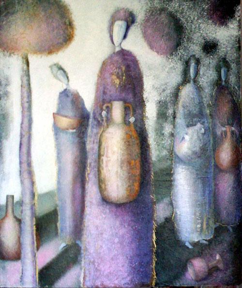 Wine Bearers painting by Sibyl MacKenzie