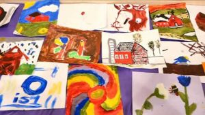 Paintings by Summer Art Campers 2015
