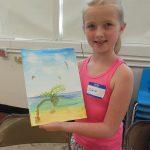 Proud of my watercolor beach scene