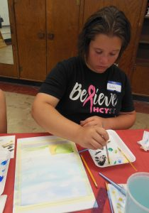 in watercolor class